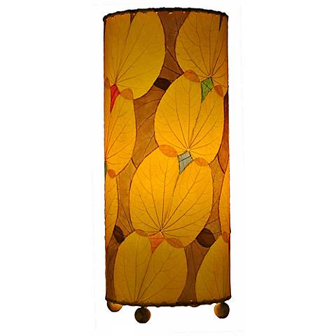 Eangee Yellow Butterfly Uplight Table Lamp