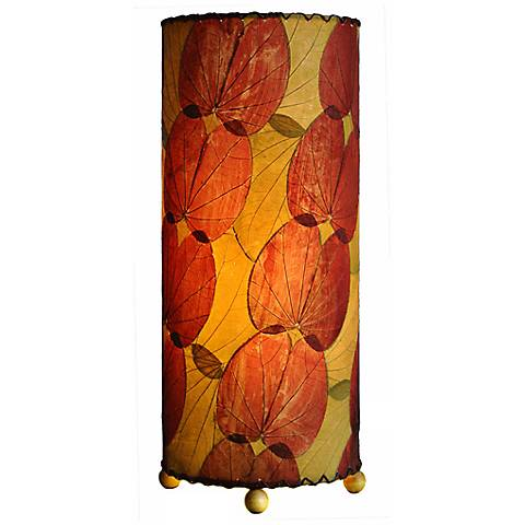 "Eangee Burgundy Butterfly 16"" high Uplight Accent Table Lamp"