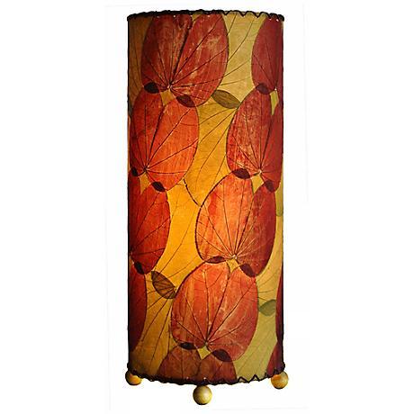 Eangee Burgundy Butterfly Uplight Table Lamp
