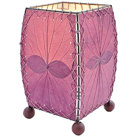 Eangee Mini Square Purple Accent Lamp