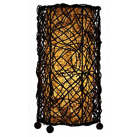 """Eangee 15""""H Durian Uplight Natural Accent Lamp"""