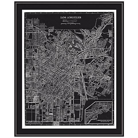 "Los Angeles 31 1/2"" High Framed Map Wall Art"