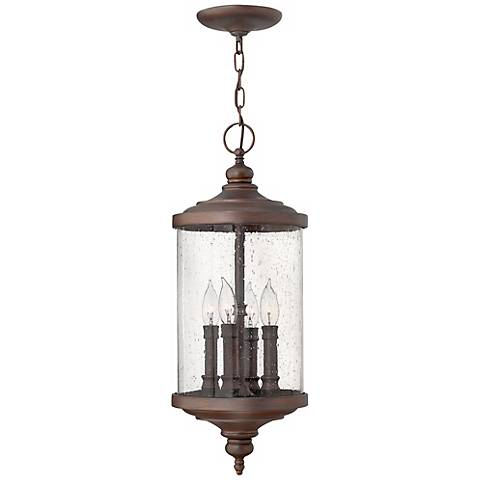 "Hinkley Barrington 24 1/2"" High Bronze Outdoor Pendant Light"