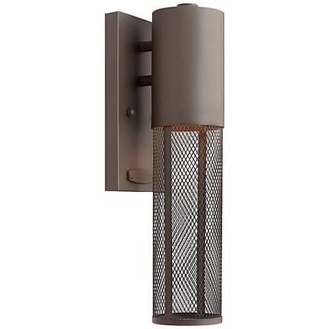 "Hinkley Aria Mesh 14 1/2"" Wide Bronze Outdoor Wall Lantern"