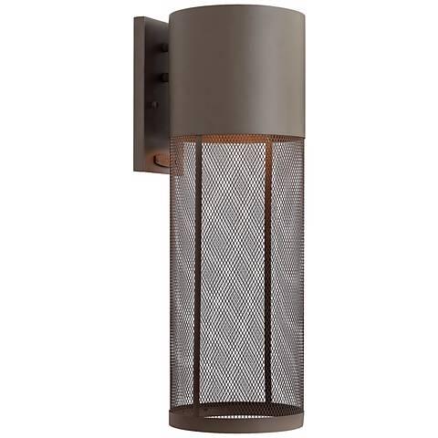 "Hinkley Aria Steel Mesh 21 3/4""H Bronze Outdoor Wall Lantern"