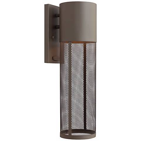 "Hinkley Aria Steel Mesh 18 1/2""H Bronze Outdoor Wall Lantern"