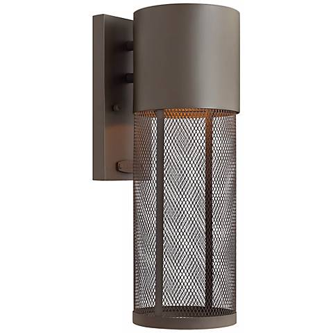 "Hinkley Aria Mesh 15 1/2"" High Bronze Outdoor Wall Lantern"
