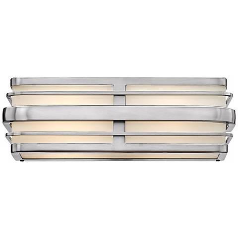 "Hinkley Winton 2-Light 15 1/2"" Wide Nickel Vanity Light"