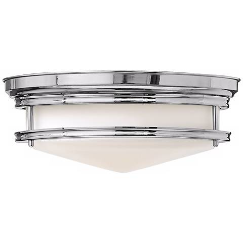"Hinkley Hadley 14"" Wide Chrome Ceiling Light"