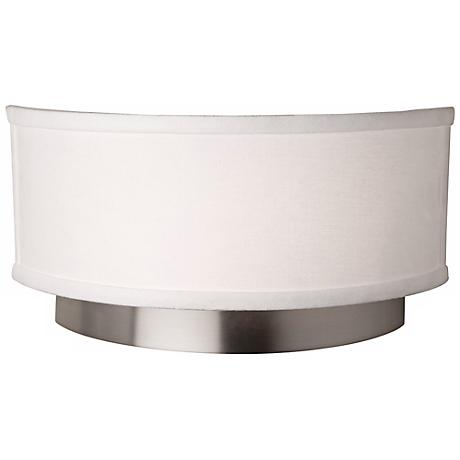 "Artcraft Scandia 12"" Wide Brushed Nickel Wall Sconce"