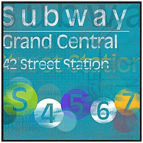 "Grand Central Subway 20 1/2"" Square New York City Wall Art"