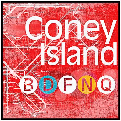 "Coney Island Subway 20 1/2"" Wall Art"