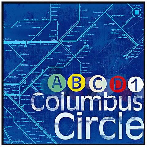 """Columbus Circle 20 1/2"""" High New York Subway Wall Art"""