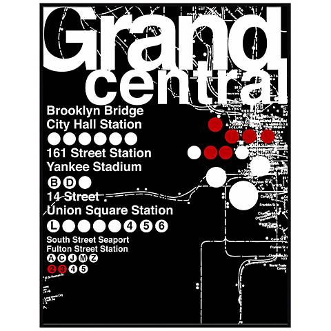 "Grand Central Subway 26 1/2"" High Framed Wall Art"