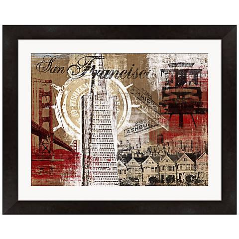 """San Francisco Collage 21"""" Wide Framed Wall Art"""