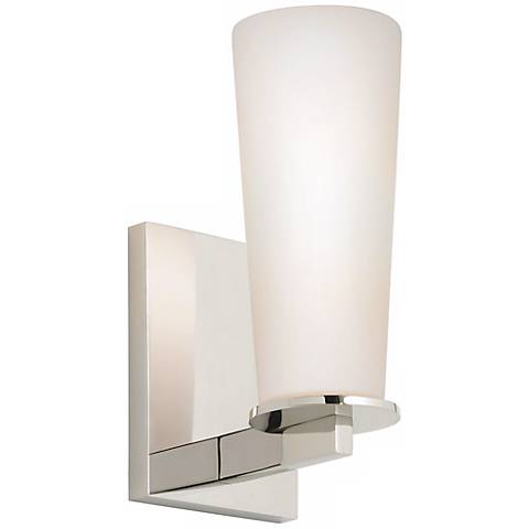 "Sonneman High Line 9 1/2"" High Polished Nickel Wall Sconce"