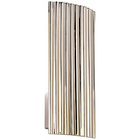 "Sonneman Paramount 15"" High Nickel Wall Sconce"