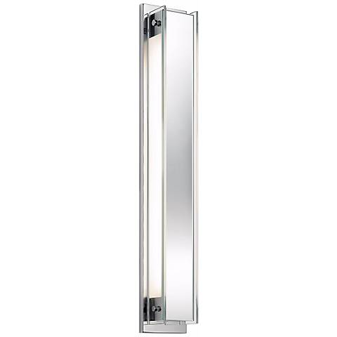 "Sonneman Accanto Chrome 28 1/2"" High Clear Glass Wall Sconce"