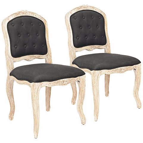 Set of 2 Divitt Black Side Chairs
