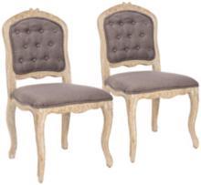 Set of 2 Divitt Light Brown Side Chairs