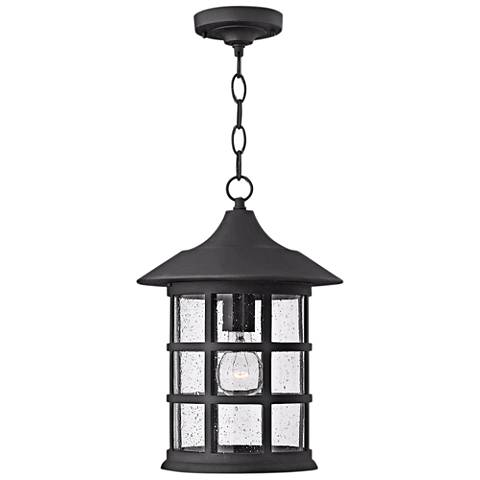 "Hinkley Freeport Black 14"" High Outdoor Hanging Light"