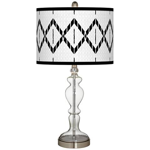 Paved Desert Giclee Apothecary Clear Glass Table Lamp