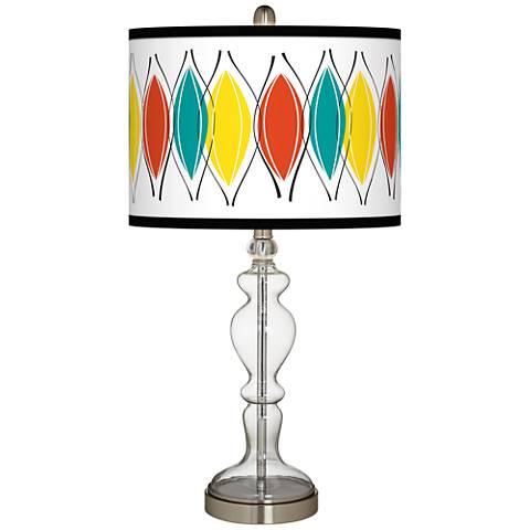 Harmonium Giclee Apothecary Clear Glass Table Lamp