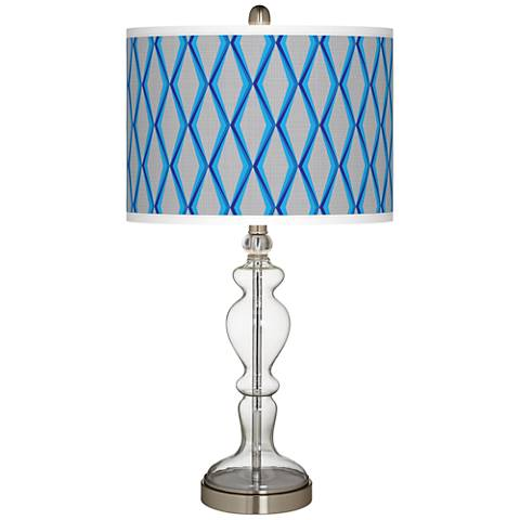 Bleu Matrix Giclee Apothecary Clear Glass Table Lamp