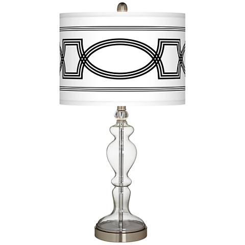 Concave Giclee Apothecary Clear Glass Table Lamp