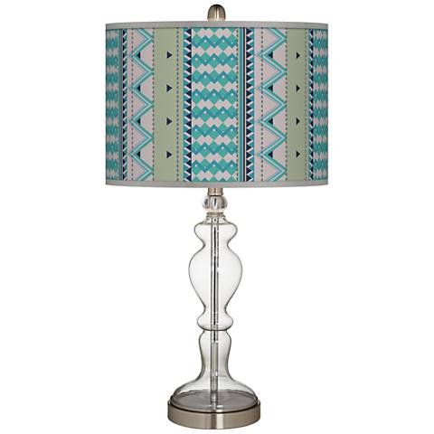 Geo Metrix Giclee Apothecary Clear Glass Table Lamp