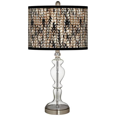 Braided Jute Giclee Apothecary Clear Glass Table Lamp