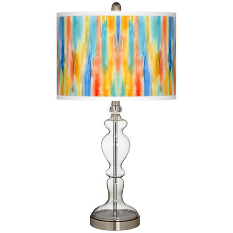 Tricolor Wash Giclee Apothecary Clear Glass Table Lamp