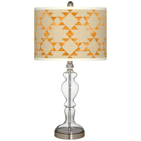 Desert Gold Giclee Apothecary Clear Glass Table Lamp