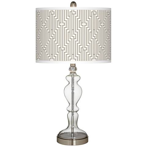 Diamond Maze Giclee Apothecary Clear Glass Table Lamp