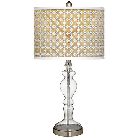 Marble Quatrefoil Giclee Apothecary Clear Glass Table Lamp