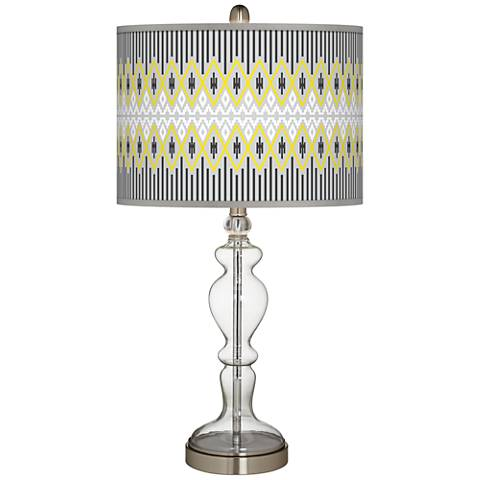 Desert Geometric Giclee Apothecary Clear Glass Table Lamp