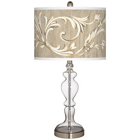 Laurel Court Giclee Apothecary Clear Glass Table Lamp