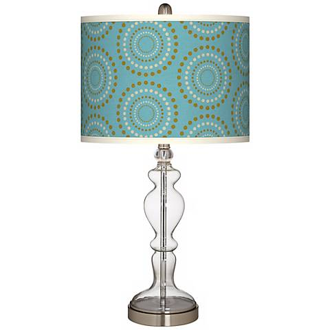 Blue Calliope Linen Apothecary Clear Glass Table Lamp