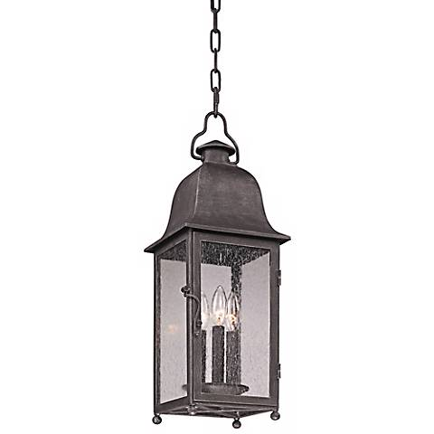 "Larchmont 23 1/2"" High Aged Pewter Outdoor Hanging Light"