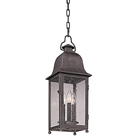 """Larchmont 23 1/2"""" High Aged Pewter Outdoor Hanging Light"""