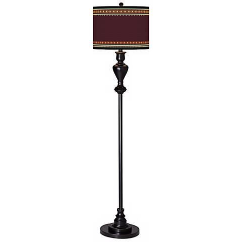 Stacy Garcia Ebro Garnet Giclee Glow Black Bronze Floor Lamp