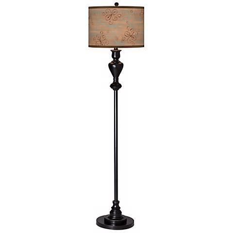 Cedar Lake Giclee Glow Black Bronze Floor Lamp
