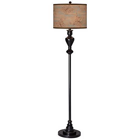 Cedar Lake Giclee Glow Black Bronze Floor Lamp
