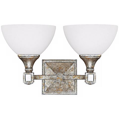 "Palazzo 16"" Wide Silver and Gold Leaf Wall Sconce"