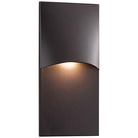 "Crescent Top 4 3/4"" High Bronze LED Step Light"