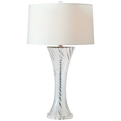 Bella Swirl Clear Glass Table Lamp