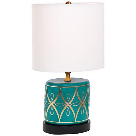 Zelda Peacock Mini Porcelain Table Lamp