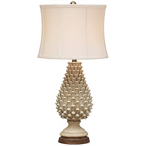 Artichoke Crackle Tuscan Table Lamp