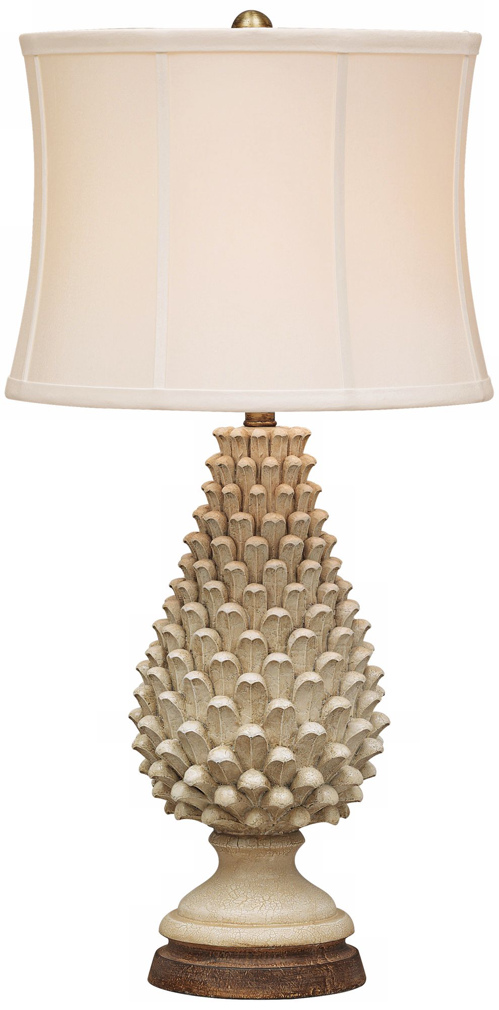 Beautiful Artichoke Crackle Tuscan Table Lamp