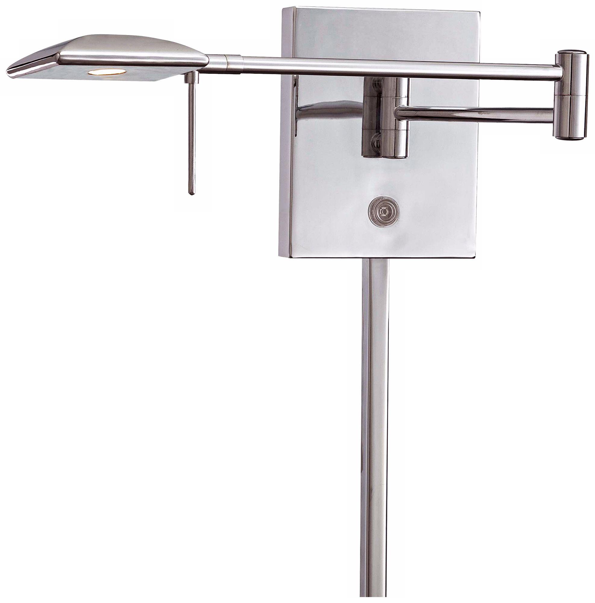 george kovacs square head led chrome swing arm wall lamp
